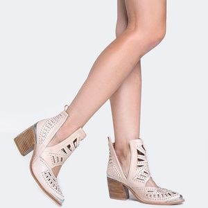 JEFFREY CAMPBELL Maceo Cut Out Ankle Booties